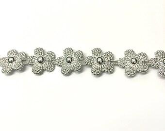 Silver Flower Power Choker