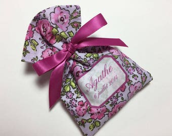 Pink 10 bags of sweets customizable Poplin flowers