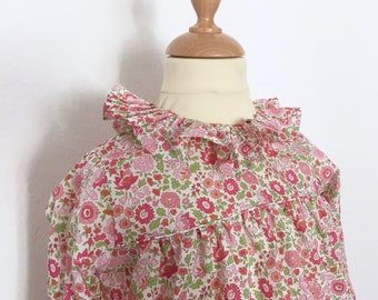 2 years - Blouse in Liberty of Anjo girl model Isabella