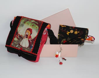 "Gift box: girl, ""Little Red Riding Hood"" bag"