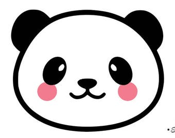 Panda cute kawaii flex fusible applique 3