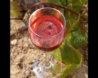 Photo background large 30X40cm on a rose wine from Bandol in provence in southern France