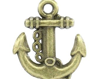 10 charms Charms anchor x15.5 mm 18 mm