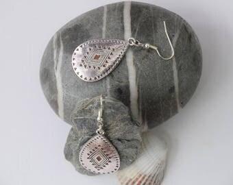 Earrings ethnic pattern