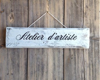 personalized plate, table wooden pallet shabby chic vintage
