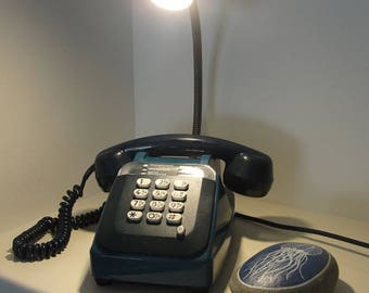 Lamp with original 80's vintage telephone