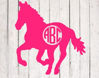 Horse SVG| Horse Monogram Design | Monogram svg Files | Silhouette Files | Cricut Files | SVG Cut Files | PNG Files