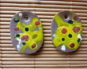 """CABOCHONS """"FUN"""" FOR EARRINGS JEWELRY CREATION..."""