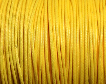 1 reel 90 m - wire cord 1 mm yellow waxed cotton cord