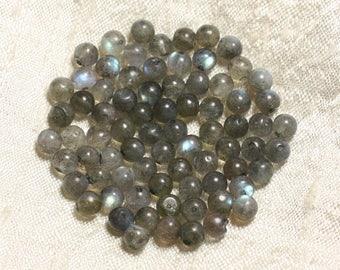10pc - stone beads - Labradorite balls 4-5mm 4558550004369