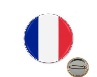 France flag - 25mm button badge