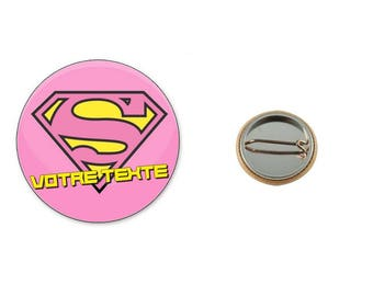 Super your text - 25 mm button badge