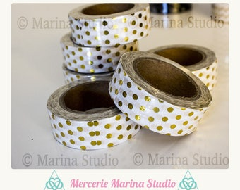 Real washi tape gold gilded pea 10 M rice paper