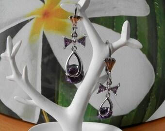 naughty pierced earrings plated silver