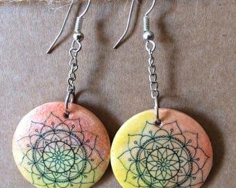 5 mandala earrings