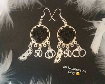 Earring 50 shade of grey