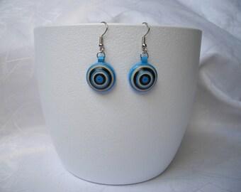 Modern earrings, quilling, paper