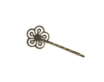 Antique bronze brass hair clip