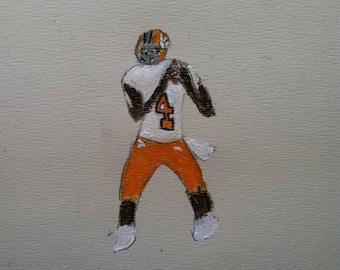 Mini Deshaun Watson Painting