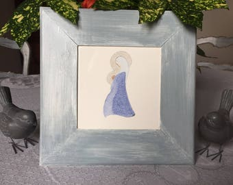 Madonna and child: Tableau sur earthenware