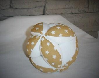 Montessori gripping ball, Star fabric
