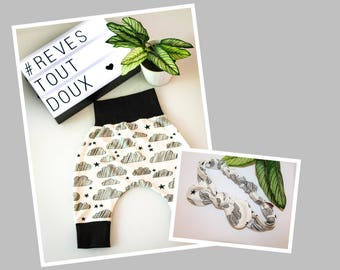 Harem pants and headband #REVES all sweet baby set
