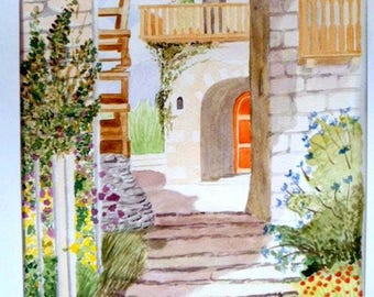 Watercolor - Cottage