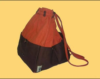 Orange and Brown backpack