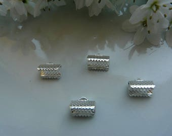 x 4 silver 10 mm claw clasps