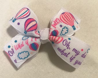 Hot air balloon hair bow