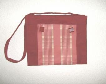 Unique fabric Burgundy canvas bag