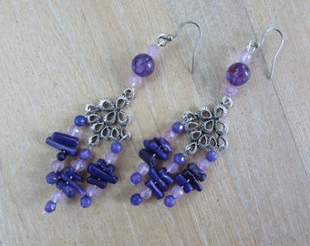 """Earrings Baroque and romantic """"Violetta"""""""