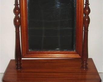 Victorian Gentleman's Beveled Shaving Mirror