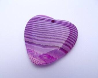 Pendant heart shaped agate dyed NIMLY 822