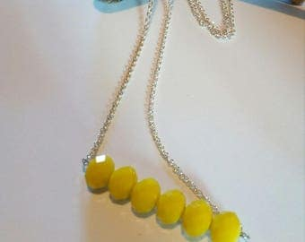 Necklace long necklace beads yellow