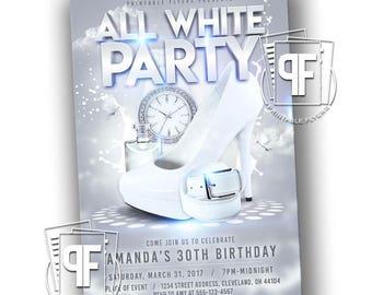 All White Party Invitation White Party Invitation Summer