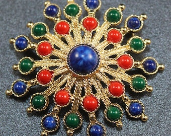 Sarah Coventry Gold Starburst Brooch/Pin
