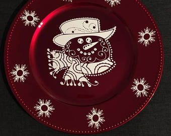 Snowman Charger Plates