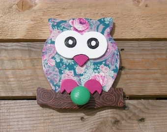 OWL wood coat rack