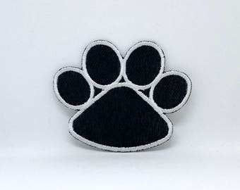 556# Black Bear's Paw Iron-on/ Sew-on Embroidered Patch / Badge/ Logo