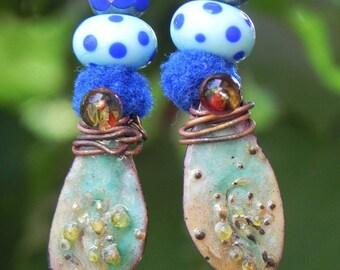 """artisan Bohemian earrings """"Aiguebelette ride"""""""