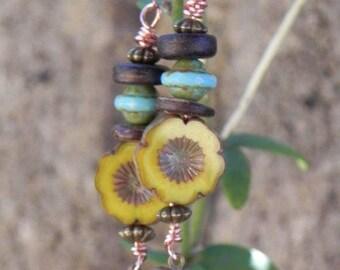 These earrings pretty sunflower single model