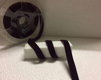 Burgundy velvet Ribbon wide 1.5 CM