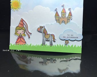 """children's card """"you're my Princess"""""""