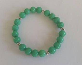 Green Jade (8 mm beads) bracelet