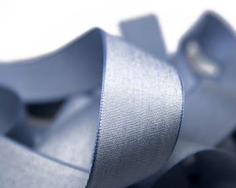 Ribbon Chambray blue 2.5 cm x 1 meter
