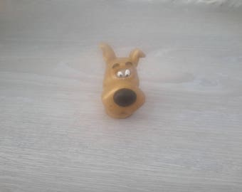 creation scoubidou dog figurine