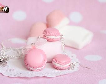 Set - Low macarons, pastel pink color
