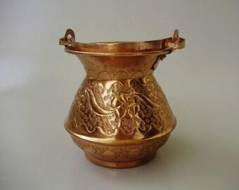 Vintage Albanian Copper jug,pot,cauldron