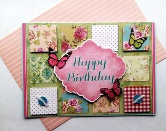 "Card ""HAPPY BIRTHDAY"" spring"